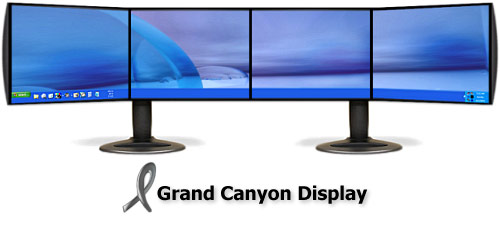 Large computer screen
